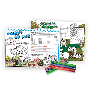 Placemats & Crayons Set